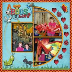 Layout Made by Linda Rae Using A Bugs Life Collection By Charly Renay