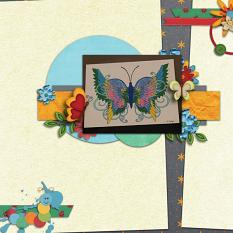 Layout By Rachel using A Bugs Life Papers By Charly Renay