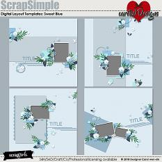 ScrapSimple Digital Layout Templates: SweetBlue