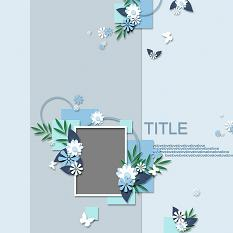 close up of ScrapSimple Digital Layout Templates: SweetBlue