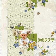 layout using ScrapSimple Digital Layout Templates: SweetBlue