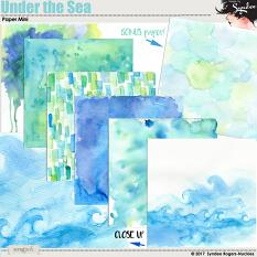 Under the Sea watercolor background papers