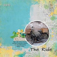 """The Ride"" digital scrapbook layout by Sondra Cook"