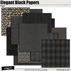 Elegant Black Papers by Designs by Helly