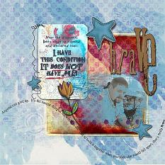 Layout using Truly Brave Collection by Amanda's Digital Studio