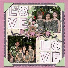 Layout By Sandy with Grow With Love Collection By Charly Renay
