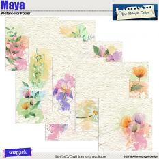 Maya Watercolor Papers by Aftermidnight Design