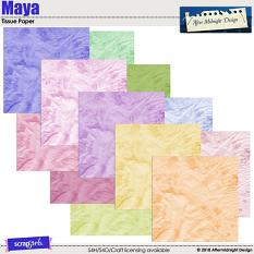 Maya Tissue papers by Aftermidnight Design