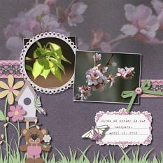 Layout by Rochelle using Grow With Love Collection By Charly Renay