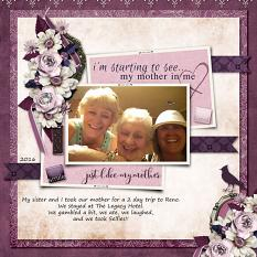 Layout using I See My Mother In Me