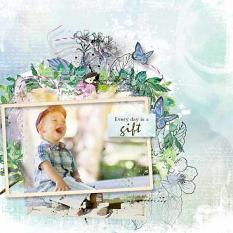 layout using Happy Time Collection by florju designs