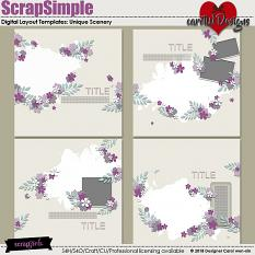 ScrapSimple Digital Layout Templates: UniqueScenery