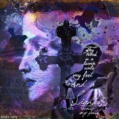 Art Journal Layout using Pierce the Darkness by Amanda's Digital Studio