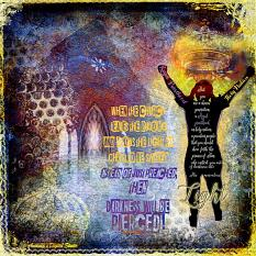Art Journal Layout using Pierce the Darkness & Song in the Night by Amanda's Digital Studio