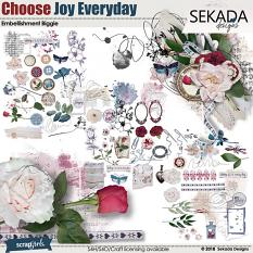 Choose Joy Every Day Embellishment Biggie
