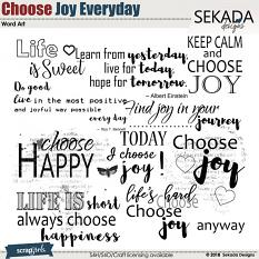 Choose Joy Every Day Word Art