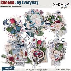 Choose Joy Every Day Embellishment Mini Clusters