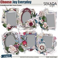 Choose Joy Every Day Embellishment Mini Frame Cluster