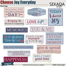 Choose Joy Every Day Word Tags