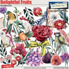 Delightful Fruits E,bellishments by Aftermidnight Design