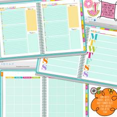 Monthly, weekly, daily pages in Color Your World Digital Planner for GoodNotes