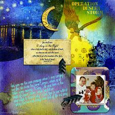 Art Journal Layout using A Song In the Night by Amanda's Digital Studio