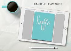Color Your World Digital Planner covers