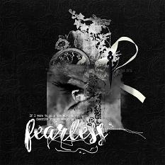 'Fearless' #scrapbook black background layout by AFT Designs - Amanda Fraijo-Tobin
