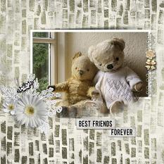 """Best Friends Forever"" digital scrapbook layout by Sondra Cook"