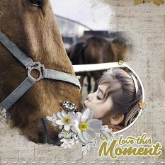 """""""Love this Moment"""" digital scrapbook layout by Geraldine Touitou"""