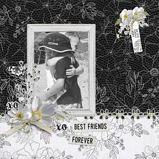 """""""Best Friends Forever"""" digital scrapbook layout by Andrea Hutton"""