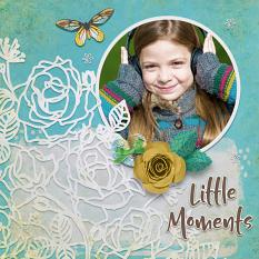 """""""Little Moments"""" digital scrapbook layout by Darryl Beers"""