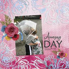 """""""Amazing Day"""" digital scrapbook layout by Andrea Hutton"""