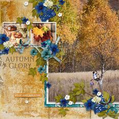 Layout using ScrapSimple Digital Layout Templates:See Autumn