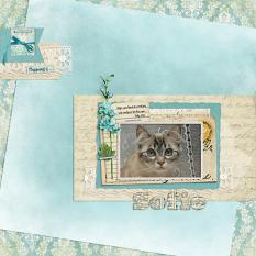 """Sofie"" digital scrapbook layout by Darryl Beers"
