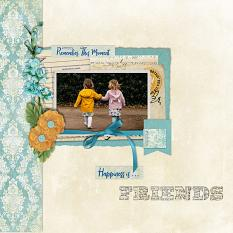"""Friends"" digital scrapbook layout by Carmel Munro"