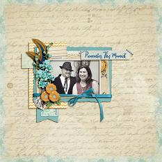 """Remember this Moment"" digital scrapbook layout by Shauna Trueblood"