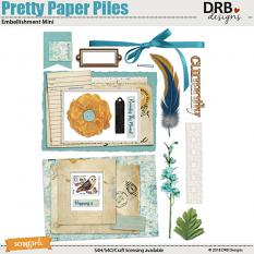 Pretty Paper Piles Embellishment Mini by DRB Designs | Scrapgirls.com