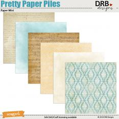 Pretty Paper Piles Paper Mini by DRB Designs | Scrapgirls.com