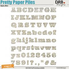 Pretty Paper Piles Alpha Mini by DRB Designs | Scrapgirls.com