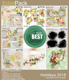 layout using Holidays 2018  Embellishment Mini : Clusters Pack 2 by Florju designs