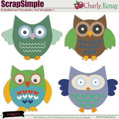 Scrapsimple Embellishment Templates Owls 1 By Charly Renay