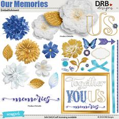 Our Memories Embellishment by DRB Designs | ScrapGirls.com