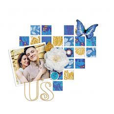 """Us"" digital scrapbook layout by Darryl Beers"