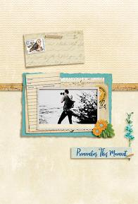 """Remember this Moment"" digital scrapbook layout by Geraldine Touitou"
