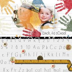 Scrapbook page by Judy Webster using School Essentials Papers