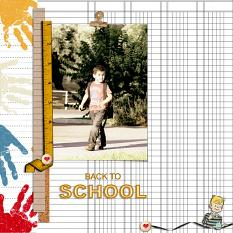 scrapbook page by Geraldine Touitou using School Essentials Papers