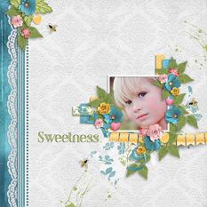Layout using ScrapSimple Digital Layout Templates:Secret Garden