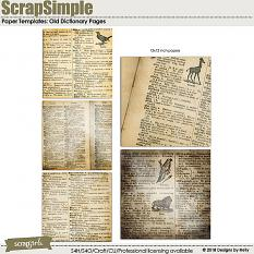 Old Dictionary Pages by Designs by Helly