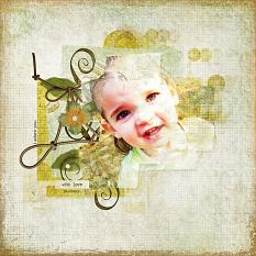 """Digital Scrapbooking Layout """"I Adore You"""" by Amanda S (see supply list with links below)"""